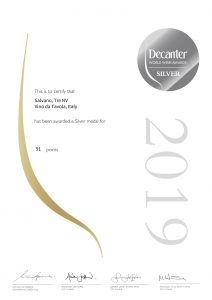 Decanter Word Wine Awards 2019 – Félicitations à Salvano, notre producteur